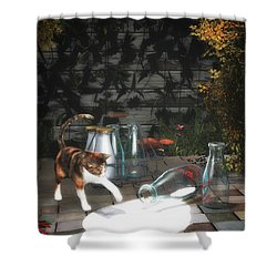 Discovering Milk Shower Curtain