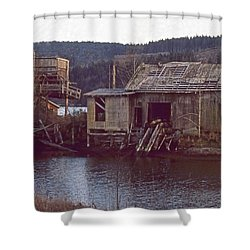 Discovery Bay Mill Shower Curtain by Laurie Stewart