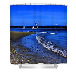 Discovery Park North Beach Shower Curtain by David Patterson
