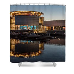 Discovery World Shower Curtain by Randy Scherkenbach