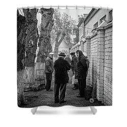 Shower Curtain featuring the photograph Discussion by John Williams