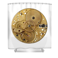 Shower Curtain featuring the photograph Dismantled Clockwork Mechanism by Michal Boubin