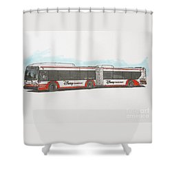 Disney Bus Shower Curtain by Roger Lighterness