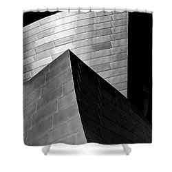 Disney Concert Hall Black And White Shower Curtain