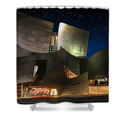 Disney Concert Hall Shower Curtain by Robert Hebert