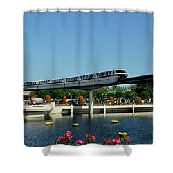 Disney Monorail Shower Curtain by John Black