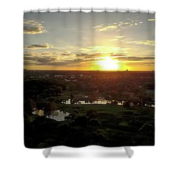 Shower Curtain featuring the photograph Disney Sunset by Michael Albright