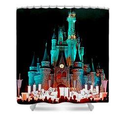 Shower Curtain featuring the photograph Disney World Night by John Haldane