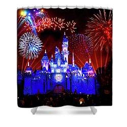 Disneyland 60th Anniversary Fireworks Shower Curtain by Mark Andrew Thomas