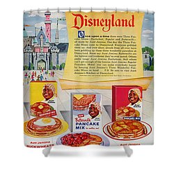Disneyland And Aunt Jemima Pancakes  Shower Curtain