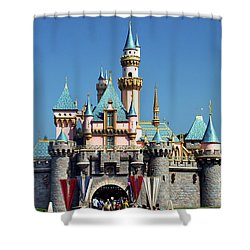 Shower Curtain featuring the photograph Disneyland Castle by Mariola Bitner
