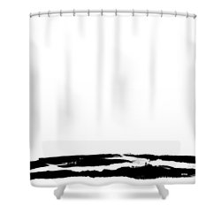 Dissimulation B-w Shower Curtain