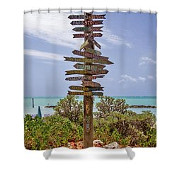 Distance From Key West Shower Curtain