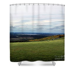 Shower Curtain featuring the photograph Distance by Sebastian Mathews Szewczyk