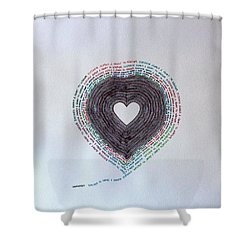 Distance Shower Curtain by Thomas Gronowski