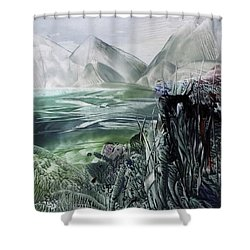 Distant Alps Shower Curtain