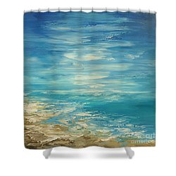 Shower Curtain featuring the painting Distant Deluge by Tatiana Iliina