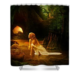 Distant Horizon Shower Curtain by Mary Hood