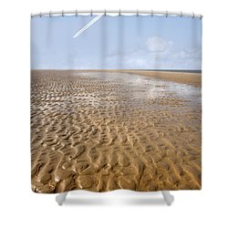 Distant Horizon Shower Curtain by Mal Bray