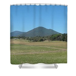 Distant Moutains Shower Curtain