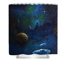 Distant Nebula Shower Curtain by Murphy Elliott