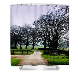 Distant Pathways Shower Curtain