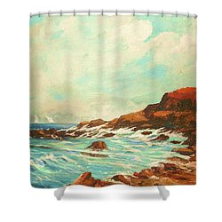 Distant Sails Of The Cove Shower Curtain by Al Brown