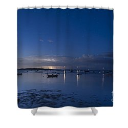 Distant Storm Shower Curtain