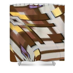Shower Curtain featuring the digital art Distortion by Wendy Wilton