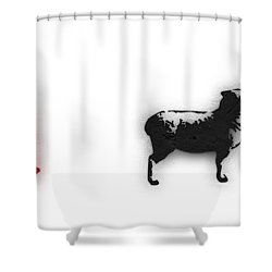 Distraction  Shower Curtain by Pixel Chimp and Dave Merrill