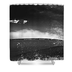 Distressed Spitfire Shower Curtain by Meirion Matthias