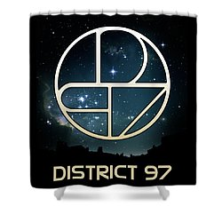 Shower Curtain featuring the digital art District 97 Logo by District 97