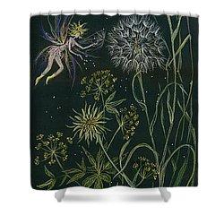 Ditchweed Fairy Grasses Shower Curtain by Dawn Fairies