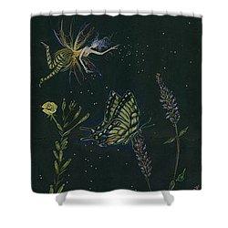 Ditchweed Fairy Tiger Swallowtail Shower Curtain by Dawn Fairies