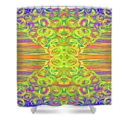Ditto Shower Curtain by Rachel Hannah