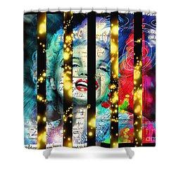 Diva A Star In Stripes Shower Curtain