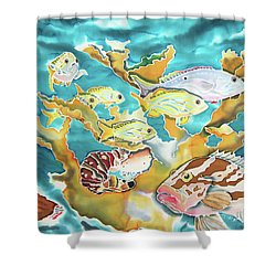 Divers Wet Dream Shower Curtain