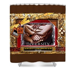 Shower Curtain featuring the digital art Diversity by Kathy Tarochione