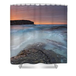 Divided Tides Shower Curtain by Mike  Dawson