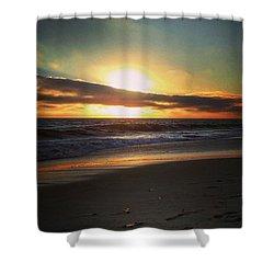 Dividing Line Shower Curtain by Sandie Dixon Watkins