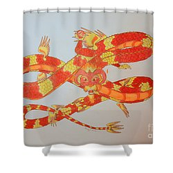 Divine Lung- Fire Shower Curtain
