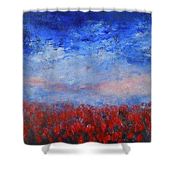 Divine Red Shower Curtain by Jane See