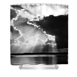 Divinely Dramatic Sunset Shower Curtain