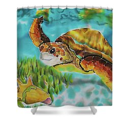 Diving Conch Shower Curtain