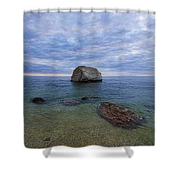 Diving Rock Shower Curtain