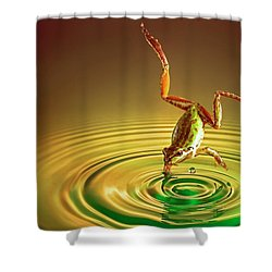 Shower Curtain featuring the photograph Diving by William Lee