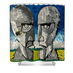 Division Bell Shower Curtain