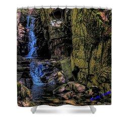 Dixville Notch Flume Brook Shower Curtain
