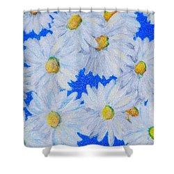 Dizzy Daisies Shower Curtain