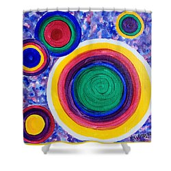 Dizzy Shower Curtain